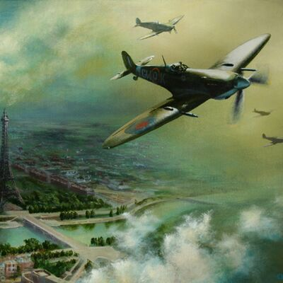 Free-French Spitfires over Paris