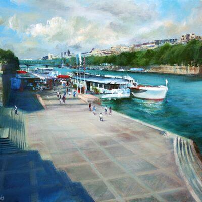 The Seine from Pont d' Lena, Paris