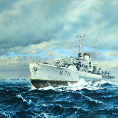 HMS Rhododendron 1945