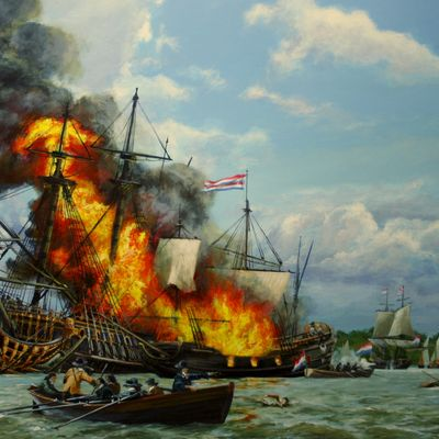 Fireships at Upnor