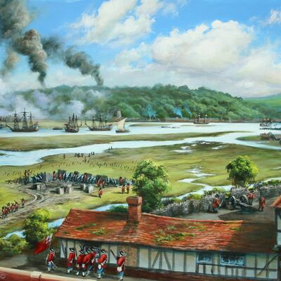 A view of the Dutch Raid from Eastgate House 1667