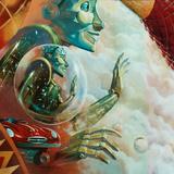 Jules Verne EuroDisney Mural detail