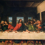 The Last Supper painted to look as if just finished. For Biopic Leonardo