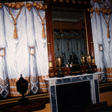 painted drapes based on 19th century design