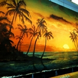 Tropic backdrop