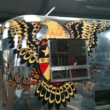 Eagle painted on Bus
