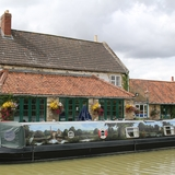 Canal boat mural