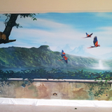 Jungle themed private mural commission