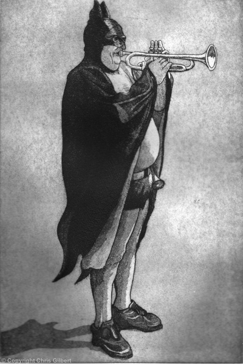 Batman Plays Trumpet