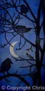 Crows by Moonlight