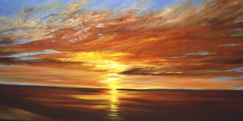 Image result for acrylic sunset