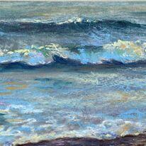 Waves at Boscombe Beach
