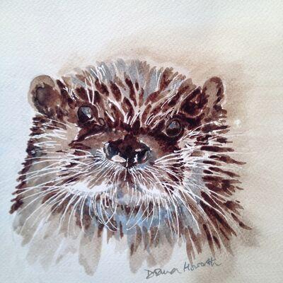 Otter pen & ink