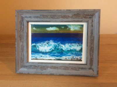 Waves rolling onto beach # 11 -SOLD