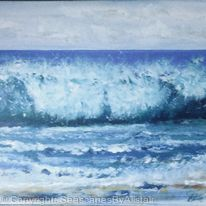 Storm waves off Whitepark beach -SOLD