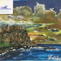Dunluce Castle sunset - SOLD