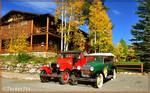 Grand Lake Lodge Model T's in Fall colors