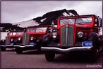 Glacier National Park White trucks vintage tour buses 2