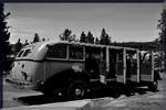 Yellowstone National Park vintage tour bus