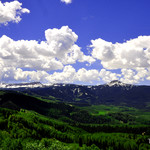 Dunckley Pass view Flat Tops Mtn range