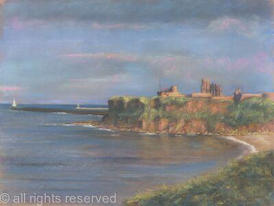 sunset over Tynemouth Priory