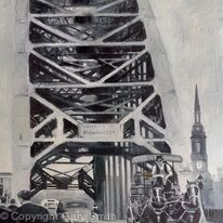 Crossing the Tyne Bridge