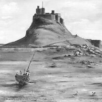 Low Tide At Lindisfarne