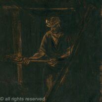 shovelling the coal