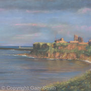 sunset over Tynemouth Priory