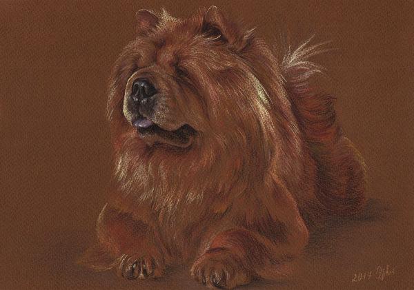 Custom pet portrait Pet painting Dog drawing Animal portrait Chow chow Dog lovers Original pastel portrait Personalized dog art