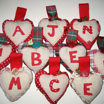 Hearts with initials