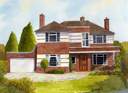 Cheshire House Watercolour