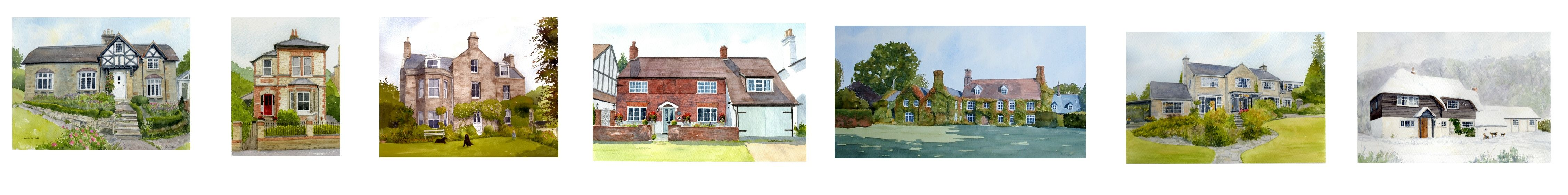 Rob Thorpe, House Portraits in Watercolour
