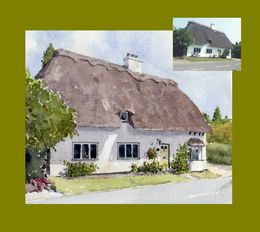 Thatched Cottage with reference photo