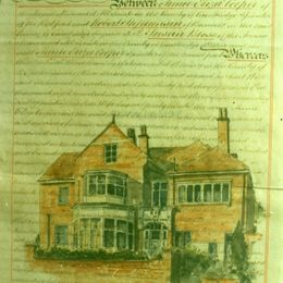 House Portrait on Old Deeds