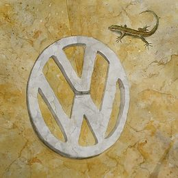 VW Camper in Stone