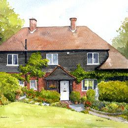 A Pretty Clapboard House