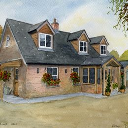 New Forest House in Watercolour