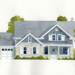 Architect's Elevation Watercoloured