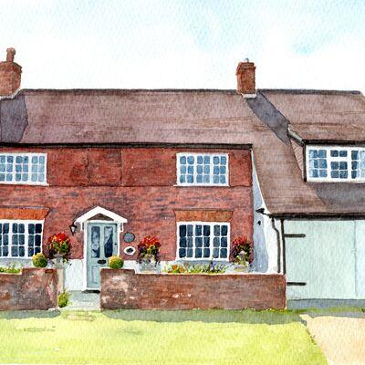 Harpenden Cottage Watercolour