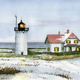 Race Point, Cape Cod in watercolor