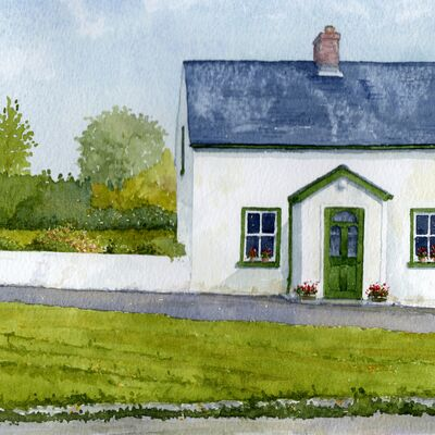 An Irish Cottage from a very old photograph
