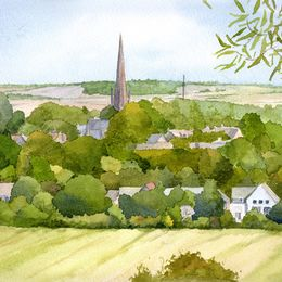 Bloxham from Hobb Hill, Oxfordshire
