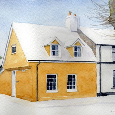 A Brecon Cottage in Snow