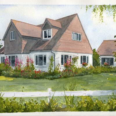 House and Garden in Watercolour