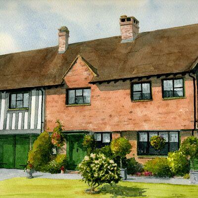 House Portrait in Watercolour