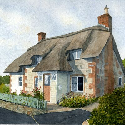 A West Sussex thatched cottage