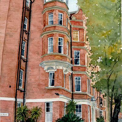 Cheyne Court, London Watercolour