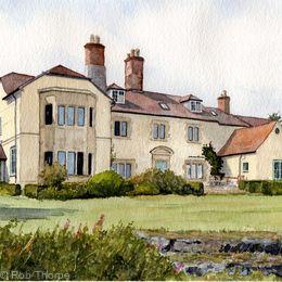 Batchcott Hall, Shropshire Print