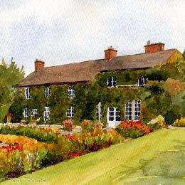 Hilltop Country House Print